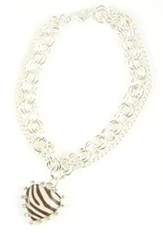 Bracelet with Cross, Zebra Print
