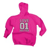 Love 01 Another, Hooded Sweatshirt, Pink, XX-Large