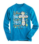 Pray About It, Long Sleeve Shirt, Blue, Large