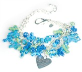 Cluster Cross Bracelet, Blue Tones