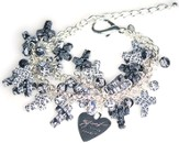 Cluster Cross Bracelet, Black and White