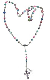 Rosary Thin Chain (Viva Beads), Multi-Color