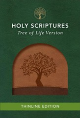 TLV Thinline Bible, Holy Scriptures, Walnut/Brown, Tree Design Duravella