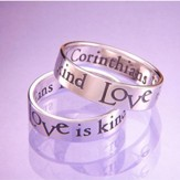 Love Is Patient, Love is Kind Ring, Size 8