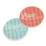 Hope & A Future, Love Always Car Coasters, Pack of 2