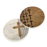 Crosses Car Coasters, Pck of 2
