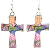 Believe Cross Earrings, Dana Designs