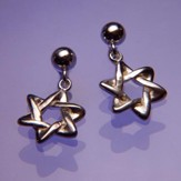 Star of David, Sterling Silver Earrings