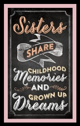 Sisters Share Childhood Memories Magnet