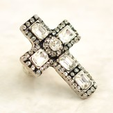 Crystal Cross Stretch Ring