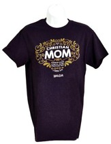 Christian Mom Shirt, Deep Purple,  Small