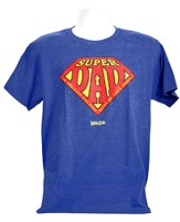 Super Dad Shirt, Heather Blue,  X-Large