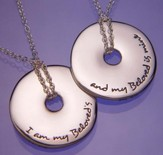I Am My Beloved's, Sterling Silver Disc Necklace