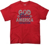 God Bless America Shirt, Red, Large