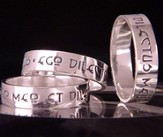 I am My Beloved's, Sterling Silver Ring, Latin, Size 5