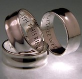 With This Ring, I Thee Wed, Sterling Silver Ring, Size 9