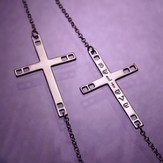 Believe, Sterling Silver Cross Pendant