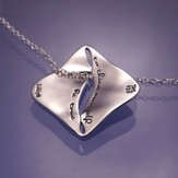 To Thine Own Self Be True, Sterling Silver River Pendant