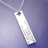 I Can Do All Things, Sterling Silver Oblong Pendant (Philippians 3:16, KJV)