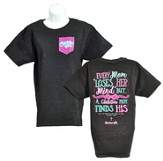 Cherished Girl Every Mom Shirt, Charcoal Heather,   Large