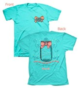 Cherished Girl A-Mason Grace Shirt, Aqua,  Small