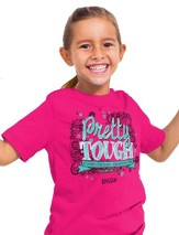 Pretty Tough Shirt, Heliconia,   Youth Small