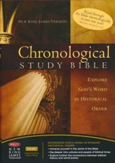 The NKJV Chronological Study Bible Hardcover - Slightly Imperfect