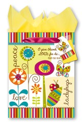 Peace, Love, Ladybugs Giftbag, Medium