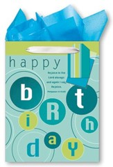 Happy Birthday, Rejoice In the Lord Always Giftbag, Medium
