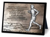 The Goal Runner Sculpture Plaque