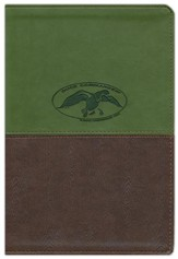 NKJV Duck Commander Faith & Family Bible, Soft leather-look, Green/Brown--indexed