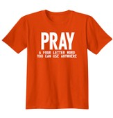 Pray Anywhere, Shirt, Orange, Medium