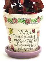 Plant the Seeds Of Hope & Faith Flower Pot, White