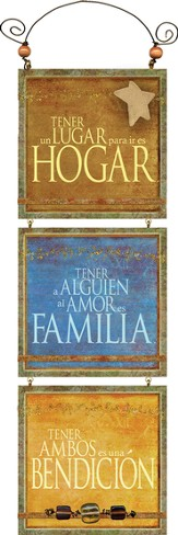 Hogar, Familia, Amor, Placa  (Home, Family, Love, Plaque)
