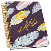 Scripture Journal, Feathers, Navy
