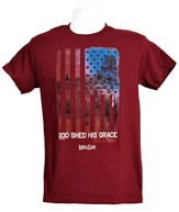 God Shed His Grace Shirt, Maroon,  Large