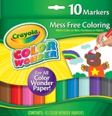 Crayola, Color Wonder Markers, 10 Pieces