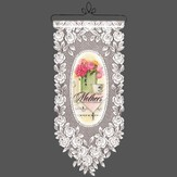 Mothers Serve Love, Lace Wall Hanging