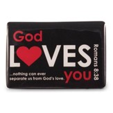 God Loves You Magnet, Black