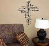 Vinyl Wall Expression, Cross, Names of Jesus