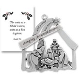 And A Child Was Born, Pewter Ornament