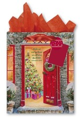 Door with Wreath Gift bag, Large