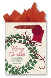 Merry Christmas, Wreath Gift bag, Medium