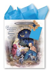 Nativity Scene Gift bag, Large