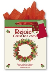 Rejoice! Christ Has Come Gift bag, Large