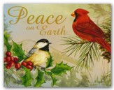 Peace On Earth, Cardinal and Chickadee, Christmas Cards, Box of 18