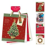 Christmas Gift Bag Assortment, with Snowflake & Tree, KJV, Large, 4 pack