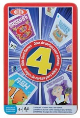 Children's 4 Card Games in Tin