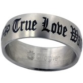 True Love Waits Ring, Tribal, Size 10