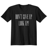 Don't Give Up, Shirt, Black, Large